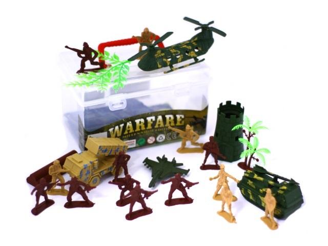 Военный набор Warfare в чемоданчике, арт. 2388-34