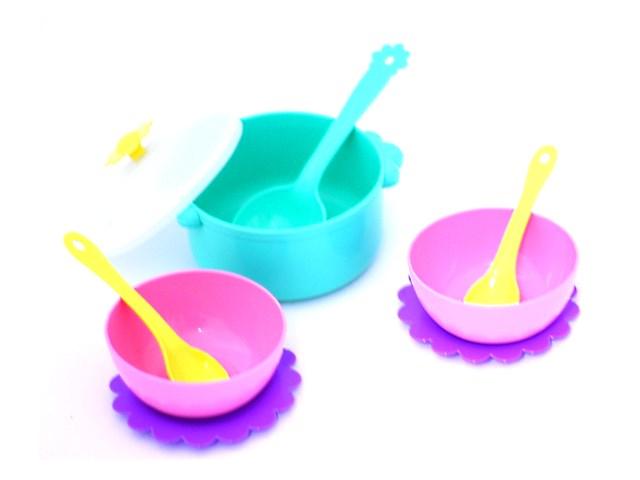Посуда 9 предметов Бабочка пластик 39321