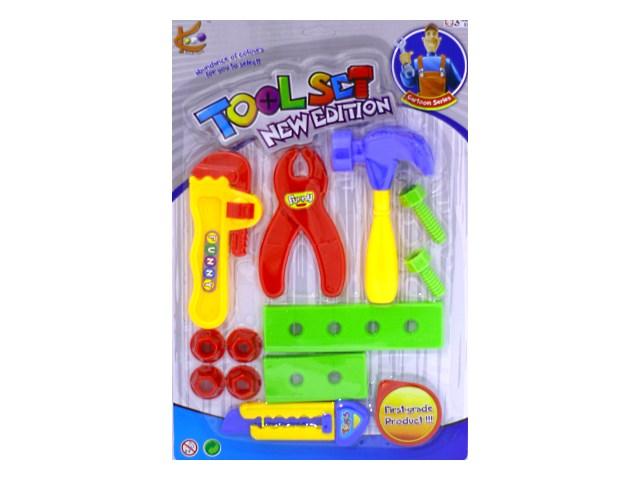 Инструменты 12 предметов Toolset new edition пластик в блистере 721-9