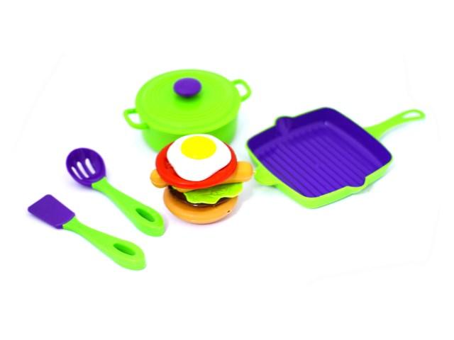 Посуда 12 предметов с продуктами пластик Mary Poppins 453027