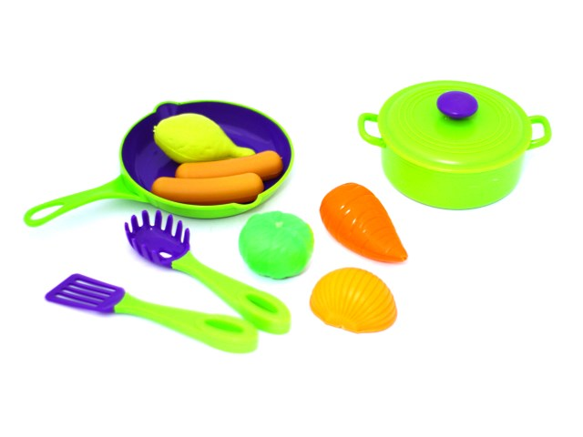 Посуда 10 предметов с продуктами пластик Mary Poppins 453026