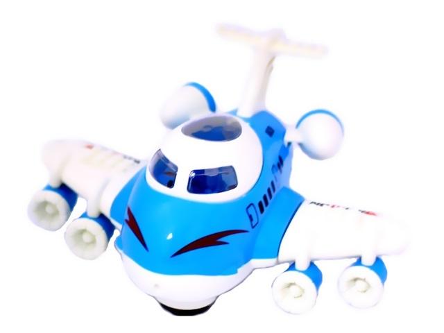 Самолет на батарейках пластиковый со светом и звуком Aviation в коробке, арт. Y18269042