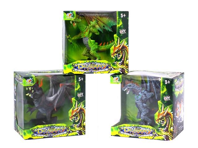 Дракон пластик 12 см 635662 в коробке
