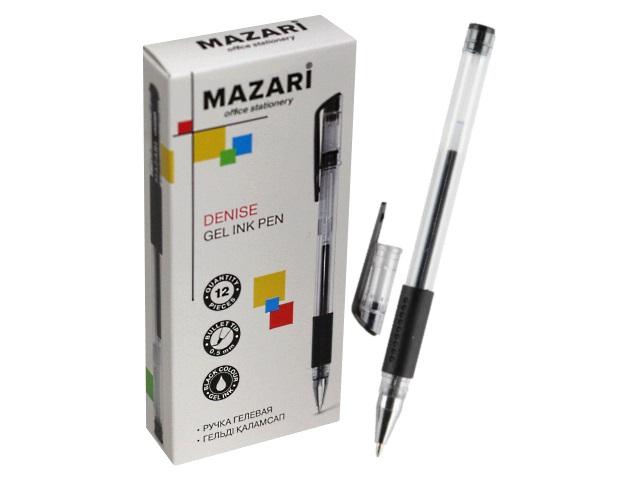 Ручка гелевая Mazari Denise черная 0.5мм M-5523-71