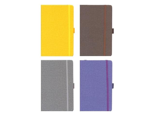 Записная книжка А5 на резинке тв/переплёт 128л цветной Mazari М-3617