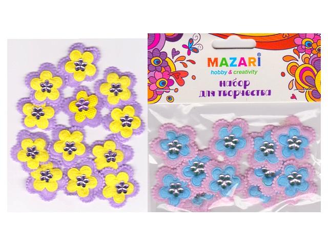 Декоративные элементы Цветы Ромашка 12 шт. М-4268