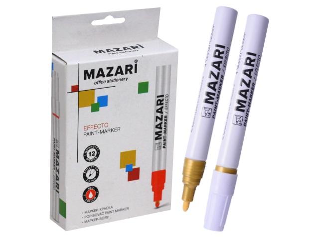Маркер краска Mazari золото 2мм М-5008