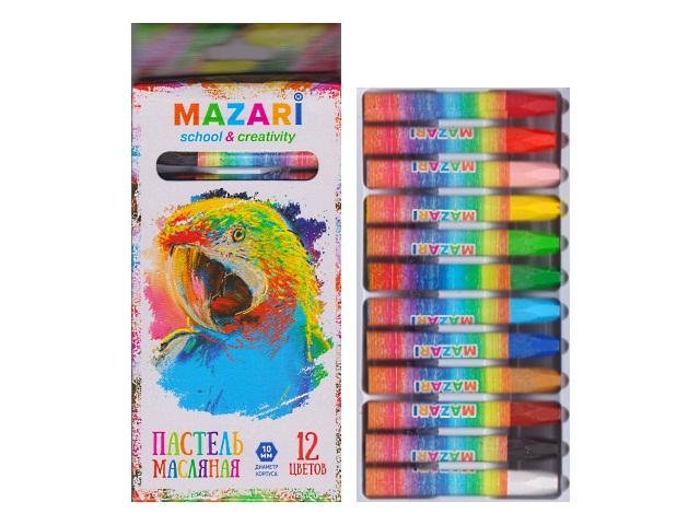 Пастель масляная 12цв Mazari Safari M-6382-12
