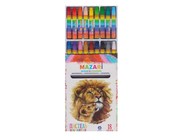 Пастель масляная 18цв Mazari Safari M-6382-18
