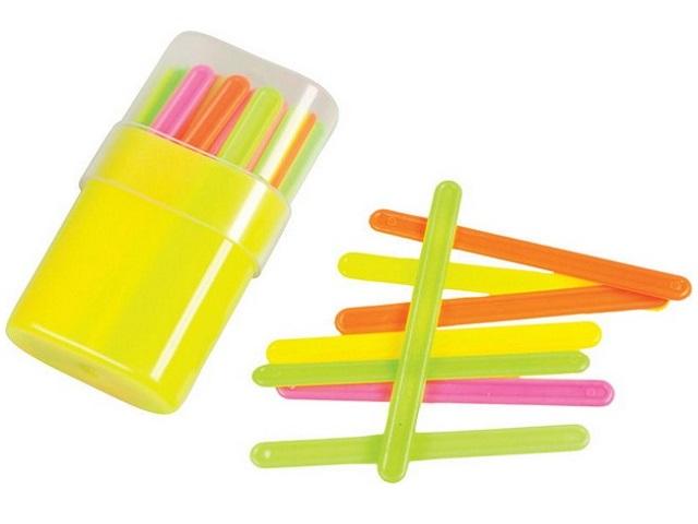 Палочки счетные 50 шт. цветные в пенале Пчелка СПК-50