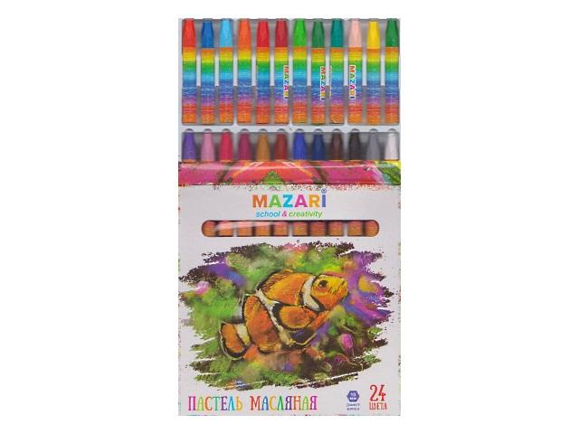 Пастель масляная 24цв Mazari Safari M-6382-24