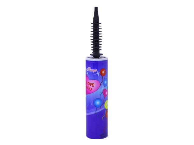 Насос для шаров пластиковый 32 см, цвета в ассортименте, Mazari М-8891