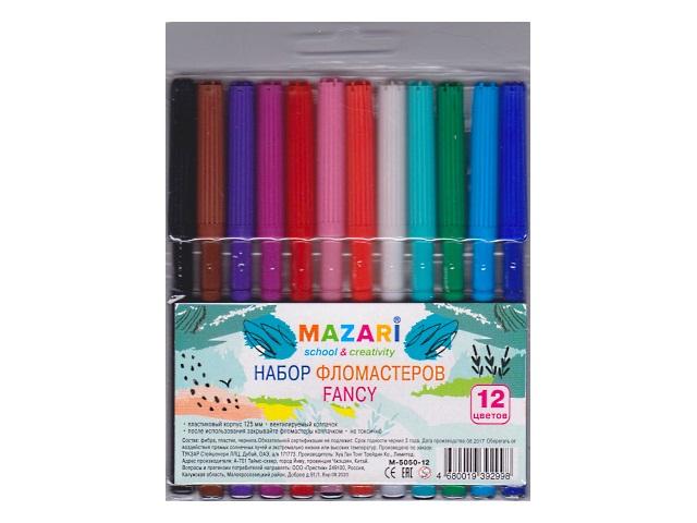 Фломастеры 12цв Mazari Fancy M-5050-12