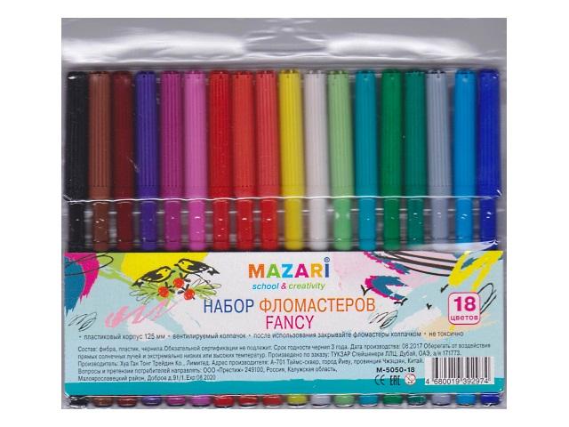 Фломастеры 18цв Mazari Fancy M-5050-18