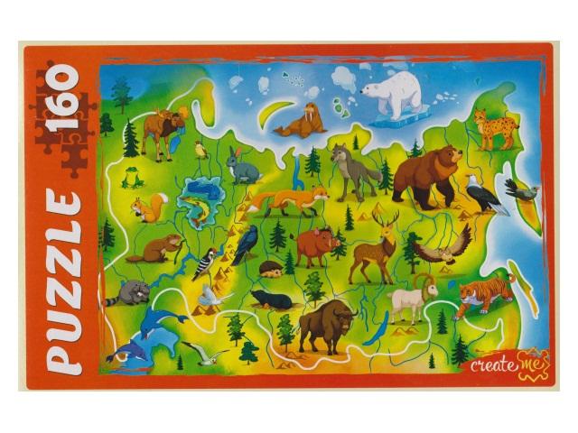 Пазлы  160 деталей Животный мир России П160-7201