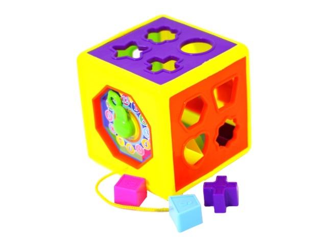 Сортер Кубик 13 деталей Весёлый куб Рыжий Кот И-0373