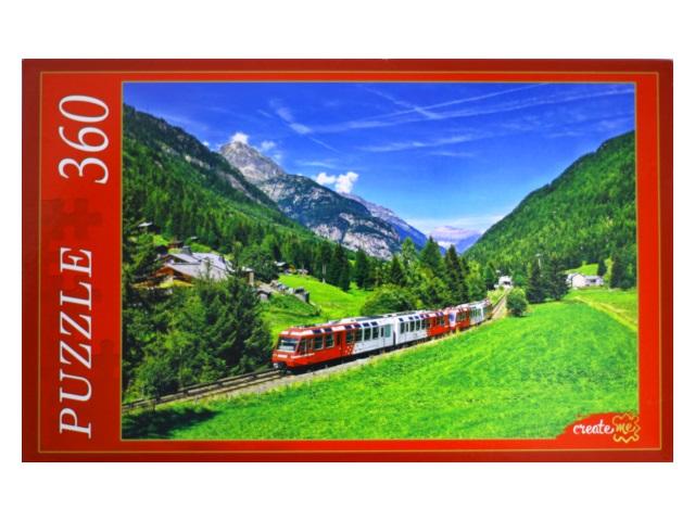 Пазлы  360 деталей Поезд в горах КБ360-7994