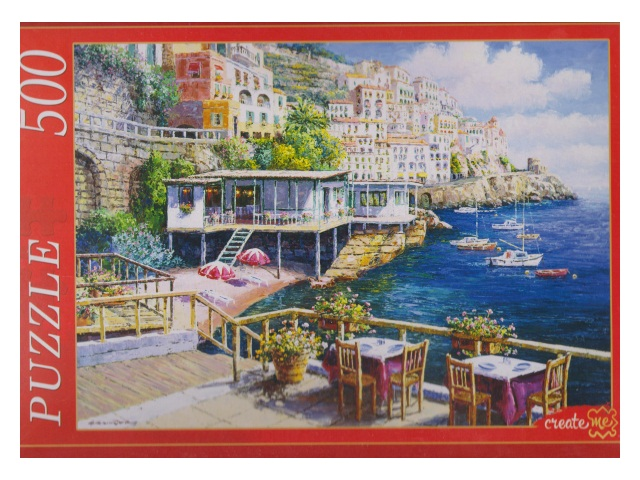Пазлы  500 деталей Кафе с видом на море АЛ500-6999