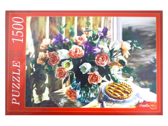 Пазлы 1500 деталей Натюрморт с розами АЛ1500-8472