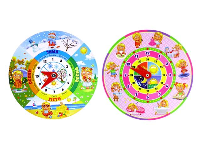 Часы обучающие Девочка ИН-4907