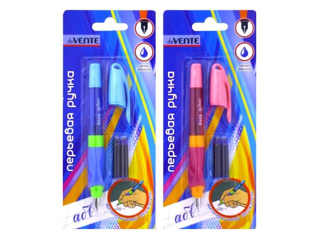 Ручка перьевая 2 капсулы DeVente 5100600 блистер