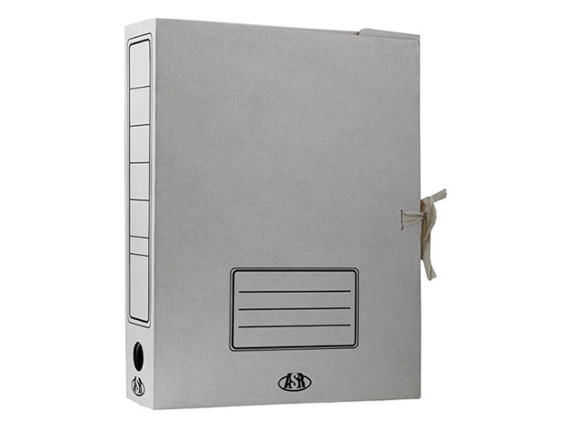 Папка архивная картон на завязках А4  7.5см белая Бпз ASR 103712