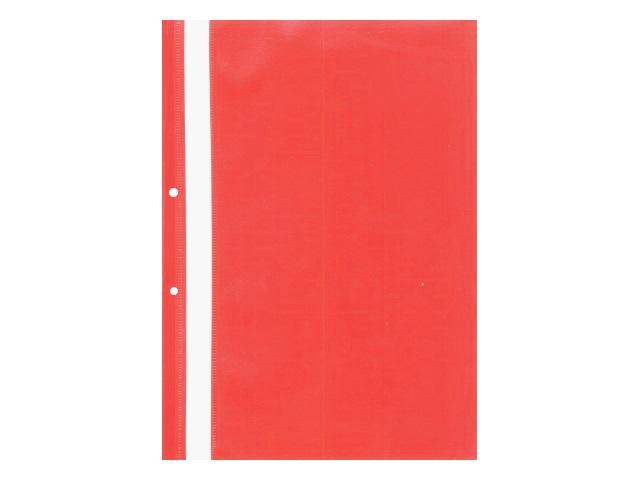 Скоросшиватель А4 с перфорацией красный глянцевый Attache 495382