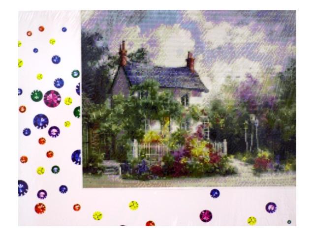 Алмазная мозаика 40*50 см Домик в цветах, Mazari M-6417
