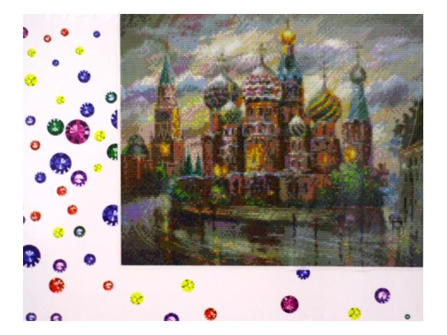 Алмазная мозаика 40*50 см Собор Василия Блаженного, Mazari M-6417