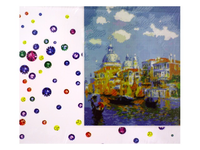 Алмазная мозаика 40*50 см Собор и лодки, Mazari M-6417