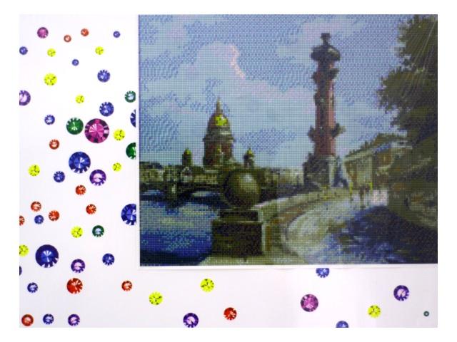 Алмазная мозаика 40*50 см Петербургский мост, Mazari M-6417