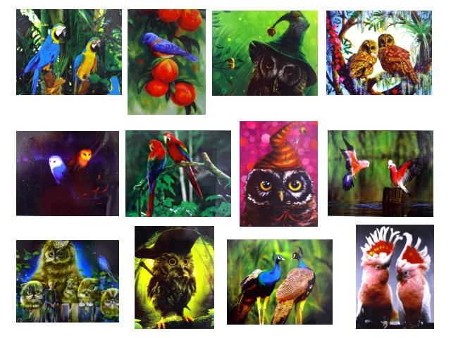 Алмазная мозаика 40*50 см Три попугая, Mazari M-6432
