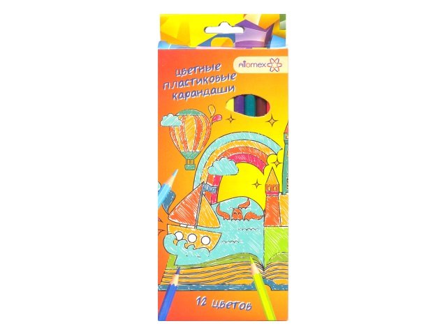 Карандаши цветные 12цв Attomex Сказка шестигранные 5022610