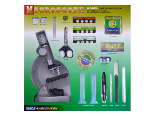 Микроскоп пластиковый 23 см 47 предметов Юный натуралист в коробке, арт. GMPZ-C1200
