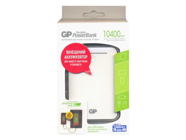 Зарядное устройство GP Power Bank 5V 10400mAh 2USB-порта GL301WE