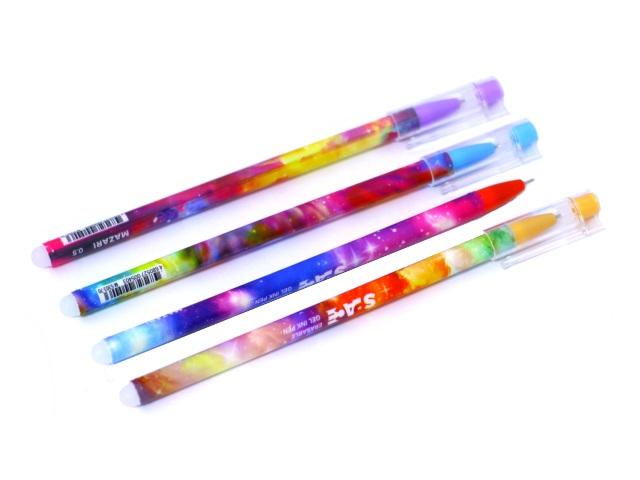 Ручка пиши-стирай Mazari Spase гелевая синяя 0.5мм М-5303-70