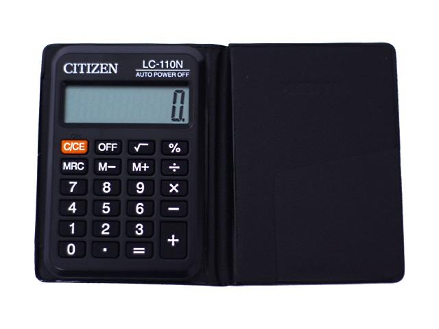 Калькулятор СITIZEN  8-разрядный черный 9*6 см LC-110N