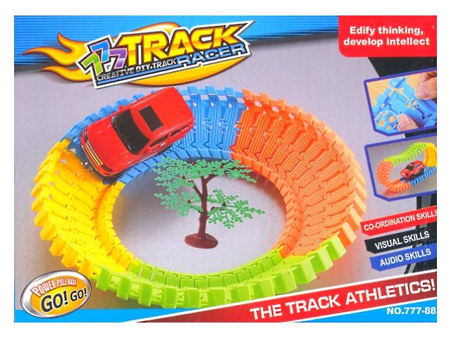Гибкий трек с машиной 40 деталей Track racer 777-88
