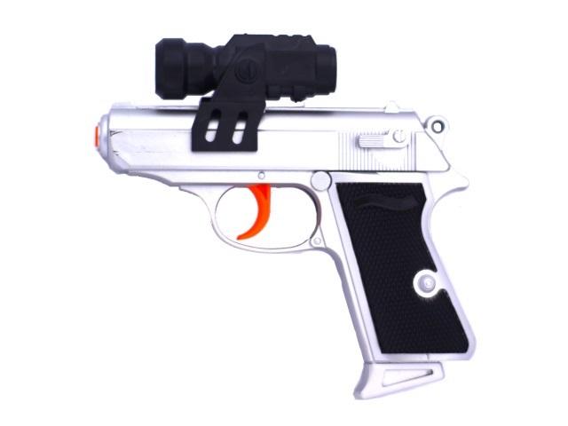 Пистолет на пульках 15см с прицелом 171037-1