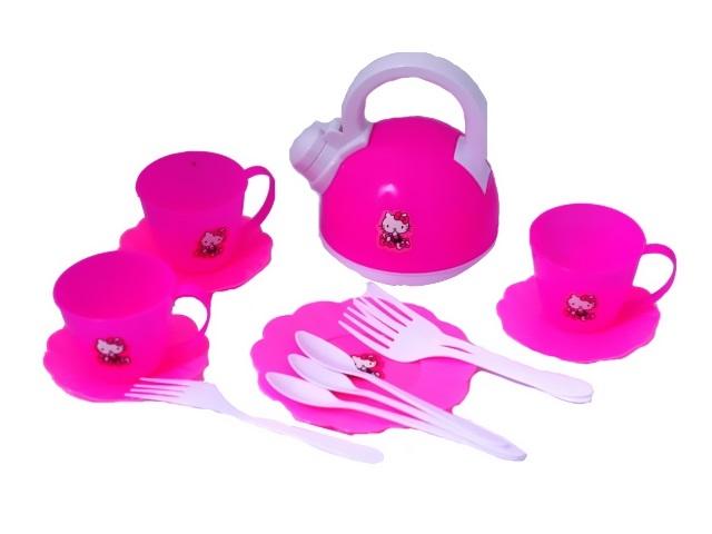 Посуда 14 предметов Hello Kitty пластик LY022