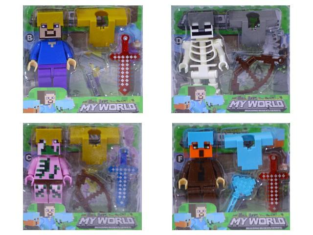 Фигурки Герои Minecraft My world в пластиковой коробке 2017-12 арт. 171032-1
