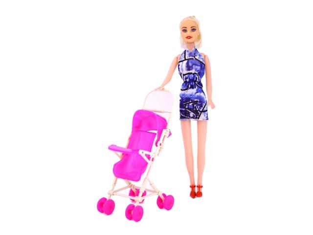 Кукла Baby с коляской 27 см 171030-28