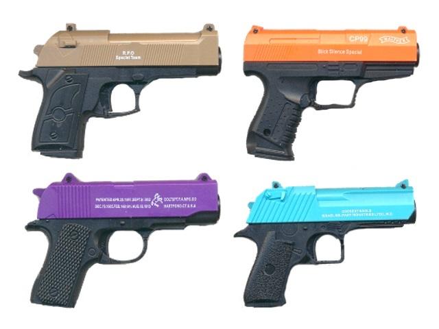 Пистолет на пульках 10см ассорти 171037-6