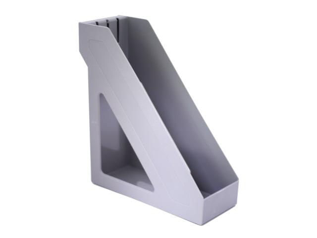 Лоток вертикальный 10см серый Базис ЛТ31