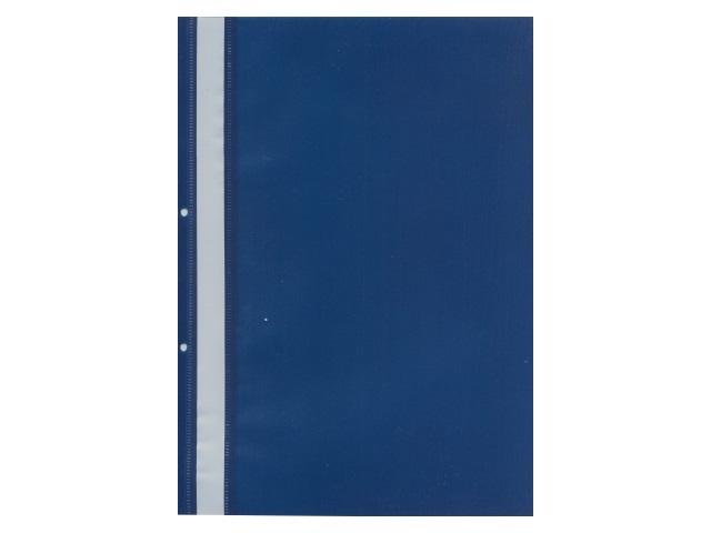 Скоросшиватель А4 с перфорацией синий глянцевый Attache 495380