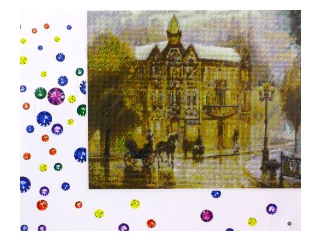 Алмазная мозаика 40*50 см Городская площадь, Mazari M-6417