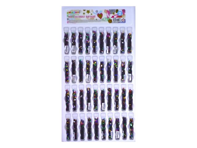 Блестки Конфетти 40 шт. микс цветов M-4298