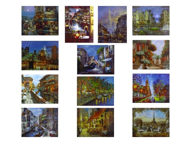 Картина по номерам 40*50см Города Микс Schreiber 13463