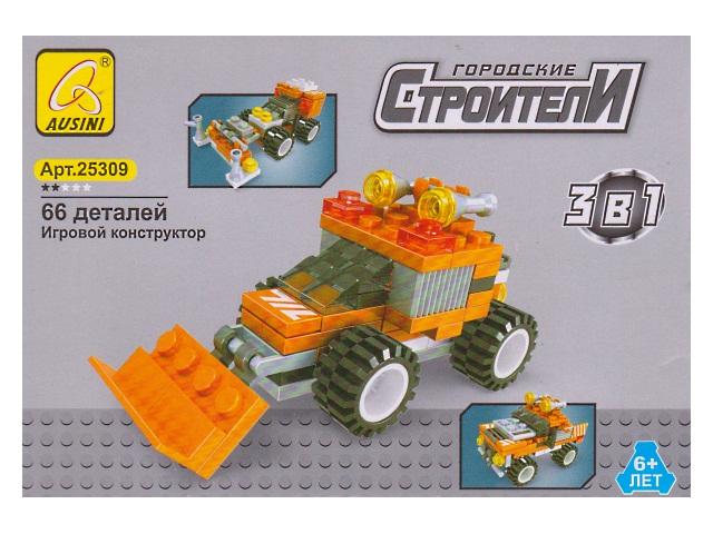Конструктор  66 деталей Городские строители 25309