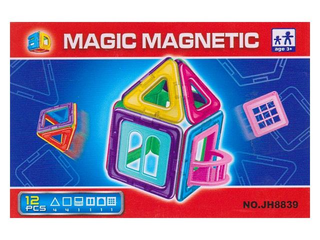 Конструктор  12 деталей Magic Magnetic JH8839